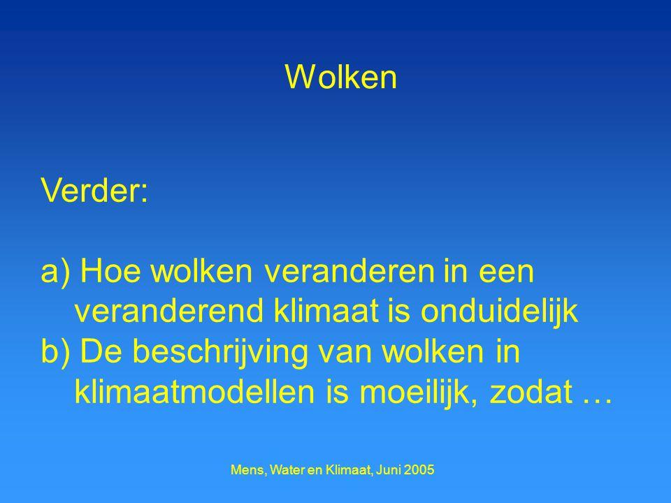 Mens, Water en Klimaat, Juni 2005