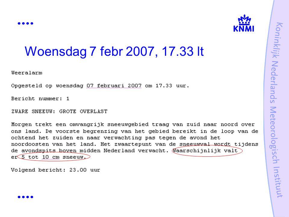Woensdag 7 febr 2007, 17.33 lt