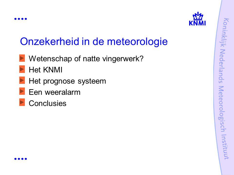Onzekerheid in de meteorologie