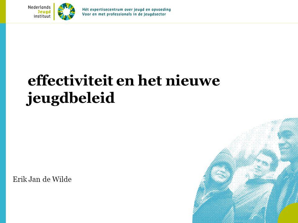 effectiviteit en het nieuwe jeugdbeleid