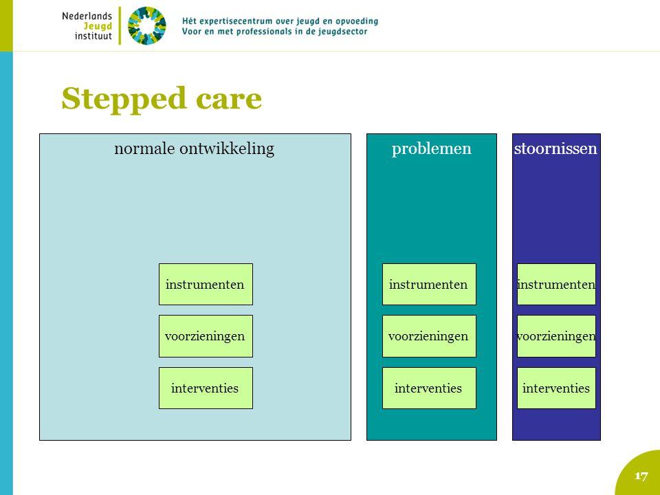 Stepped care normale ontwikkeling problemen stoornissen instrumenten