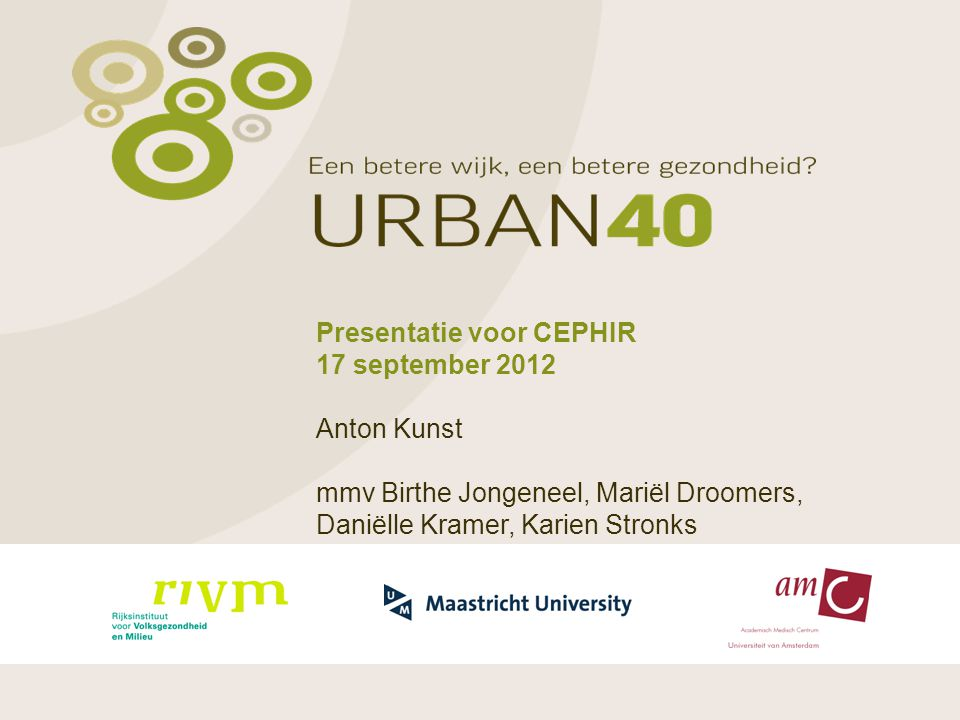 Presentatie voor CEPHIR