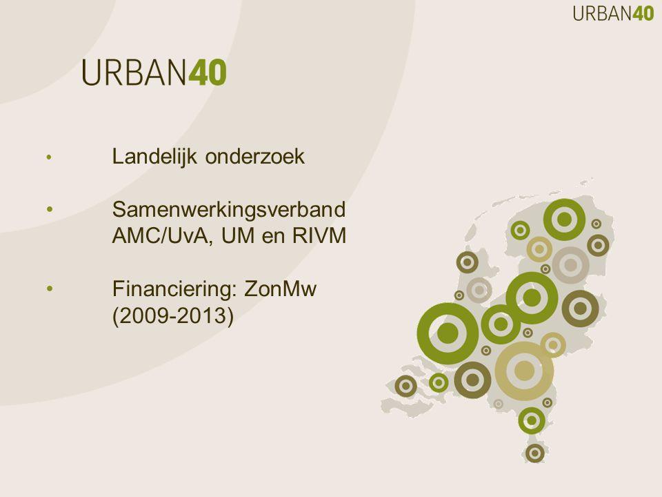 • Samenwerkingsverband AMC/UvA, UM en RIVM • Financiering: ZonMw