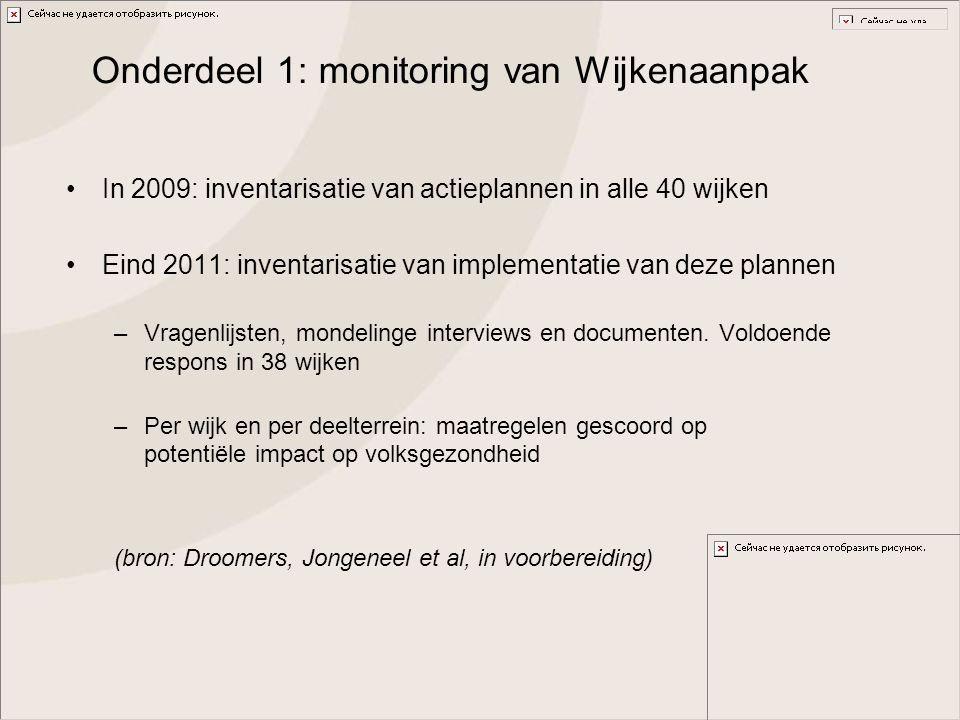 Onderdeel 1: monitoring van Wijkenaanpak