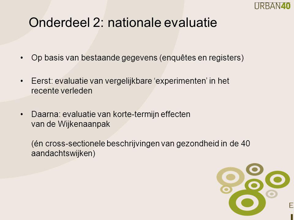 Onderdeel 2: nationale evaluatie
