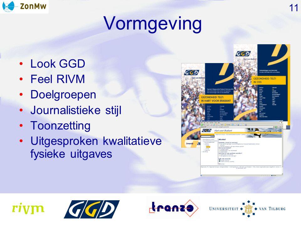 Vormgeving Look GGD Feel RIVM Doelgroepen Journalistieke stijl