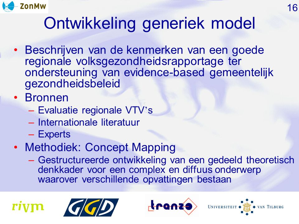 Ontwikkeling generiek model