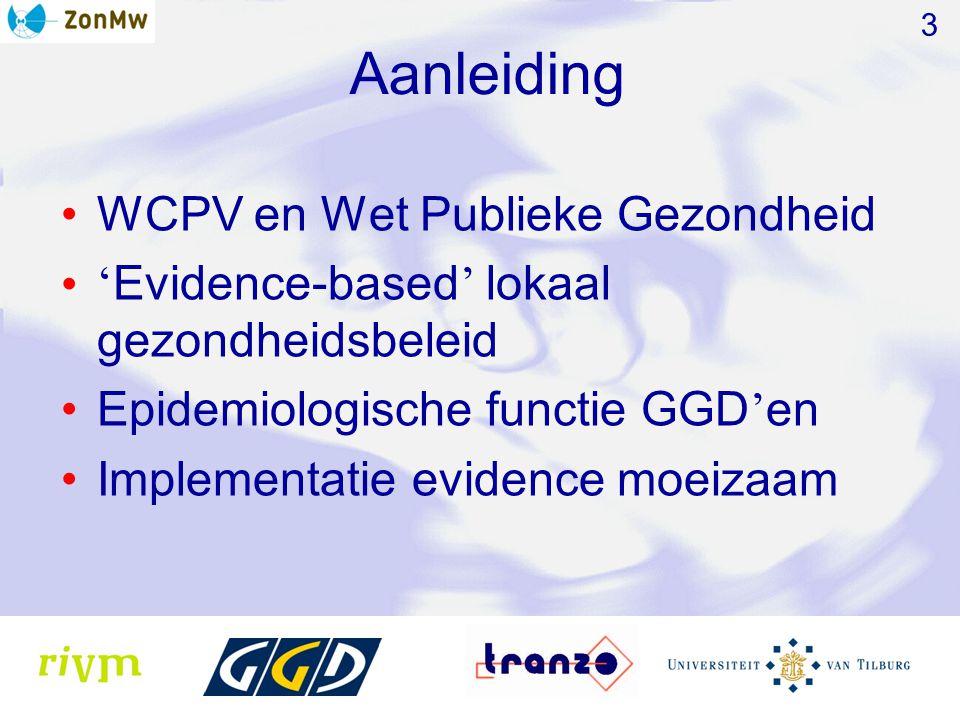 Aanleiding WCPV en Wet Publieke Gezondheid
