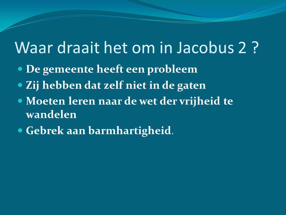 Waar draait het om in Jacobus 2