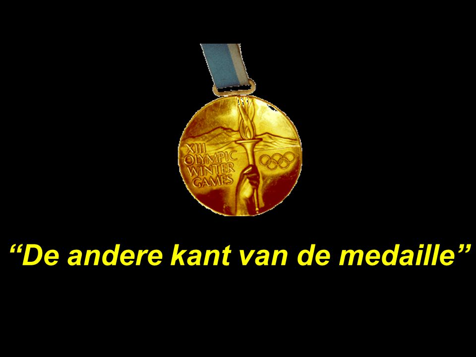 De andere kant van de medaille