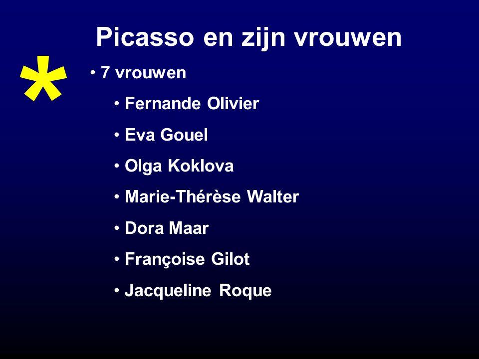 Picasso en zijn vrouwen