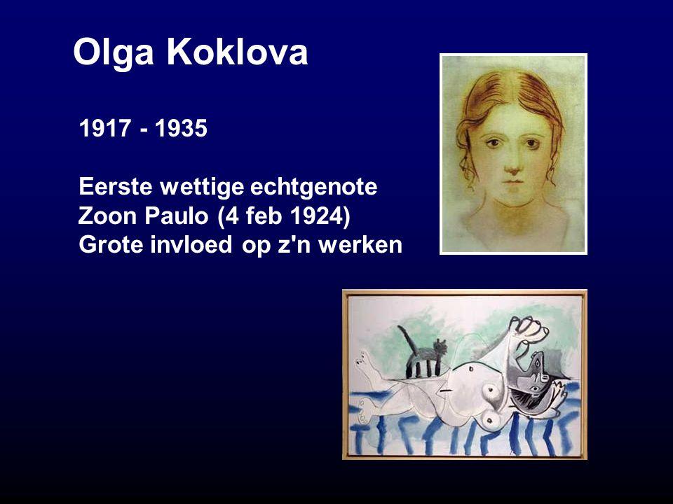Olga Koklova 1917 - 1935.