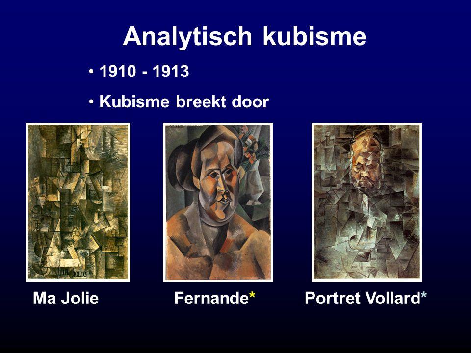 Analytisch kubisme 1910 - 1913 Kubisme breekt door