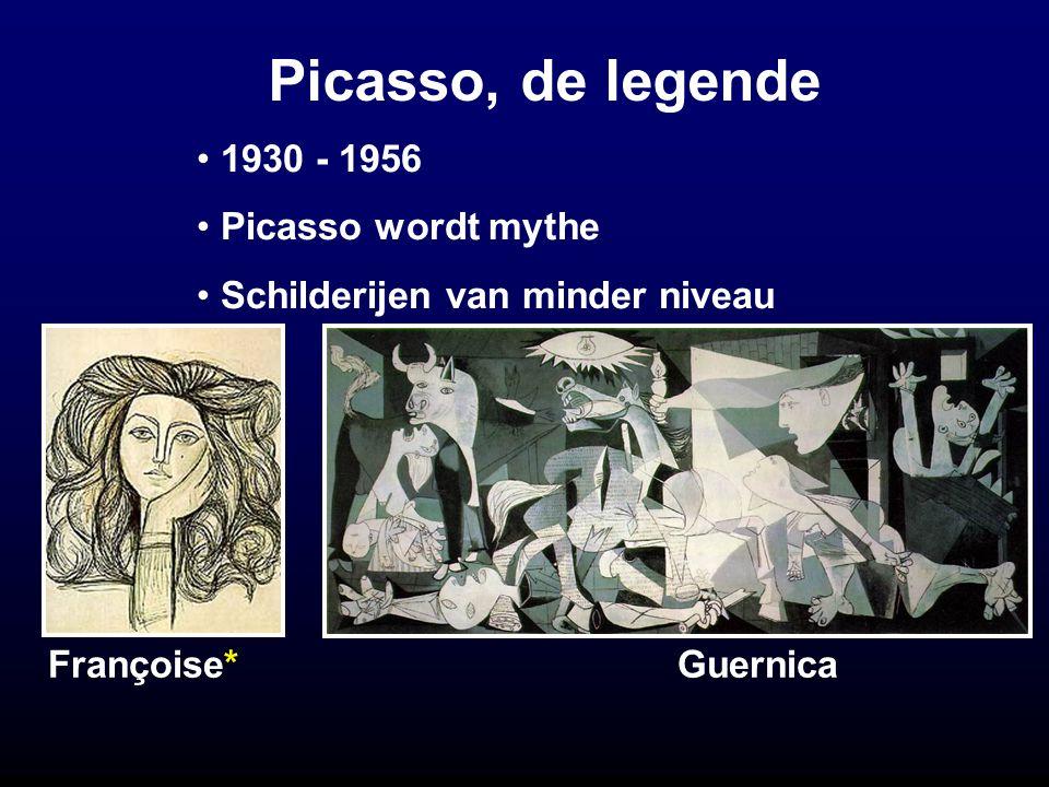 Picasso, de legende 1930 - 1956 Picasso wordt mythe