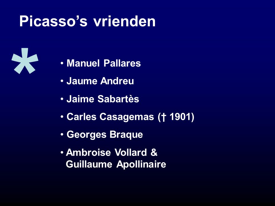 * Picasso's vrienden Manuel Pallares Jaume Andreu Jaime Sabartès