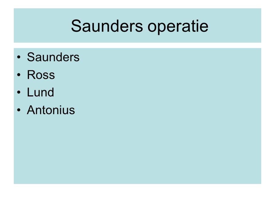 Saunders operatie Saunders Ross Lund Antonius