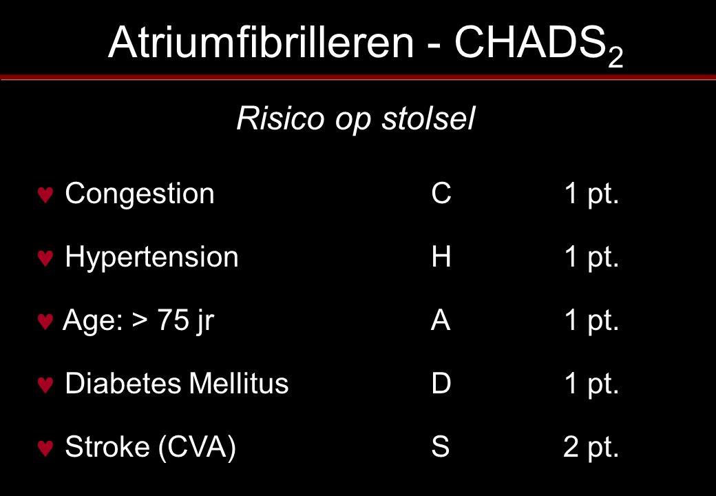 Atriumfibrilleren - CHADS2