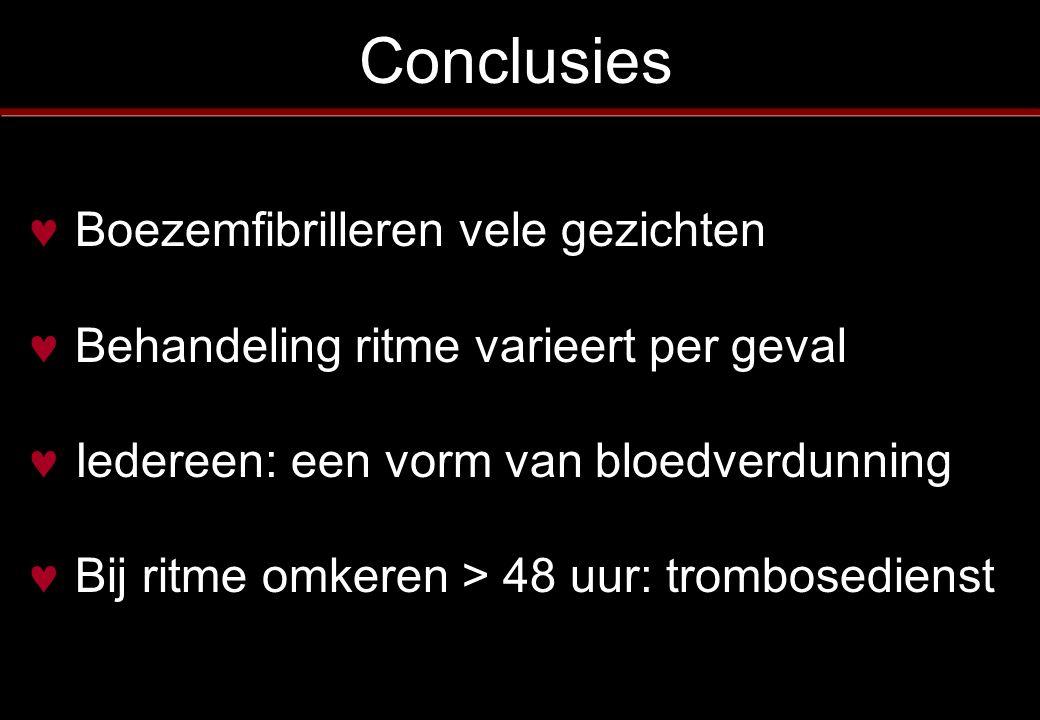 Conclusies Boezemfibrilleren vele gezichten