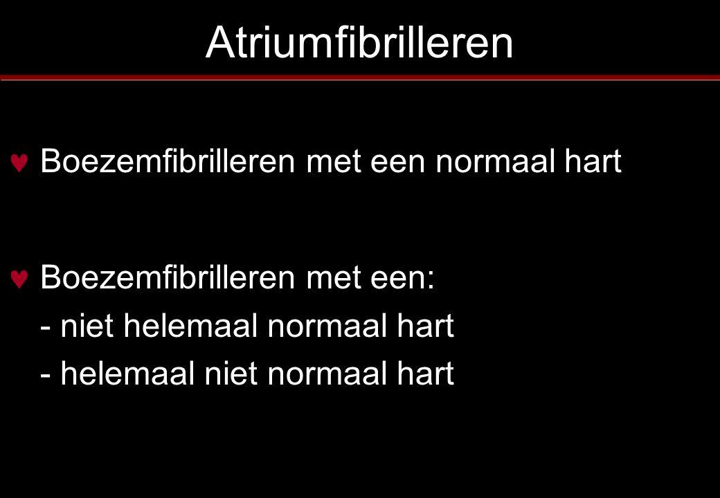 Atriumfibrilleren Boezemfibrilleren met een normaal hart