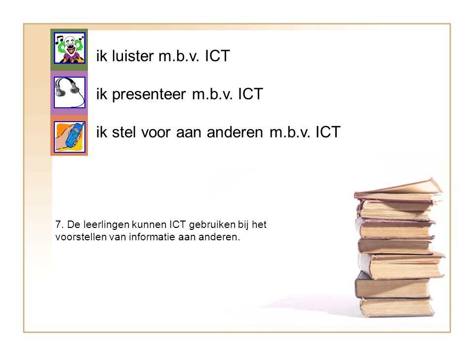 ik stel voor aan anderen m.b.v. ICT