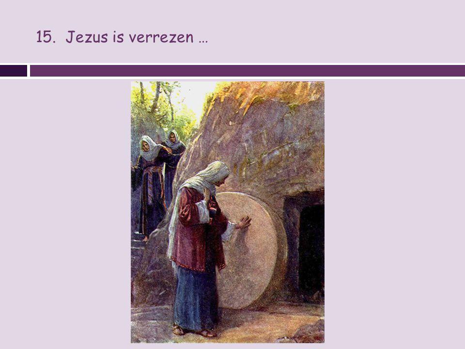 15. Jezus is verrezen …