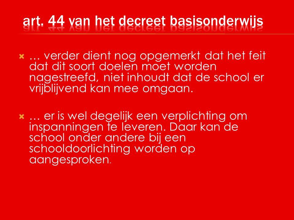 art. 44 van het decreet basisonderwijs
