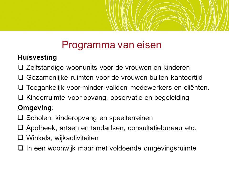 Programma van eisen Huisvesting