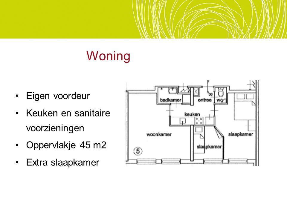 Woning Eigen voordeur Keuken en sanitaire voorzieningen