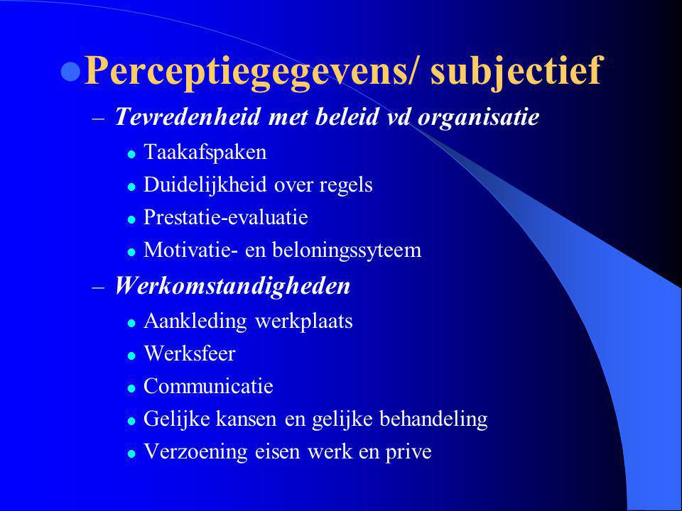 Perceptiegegevens/ subjectief