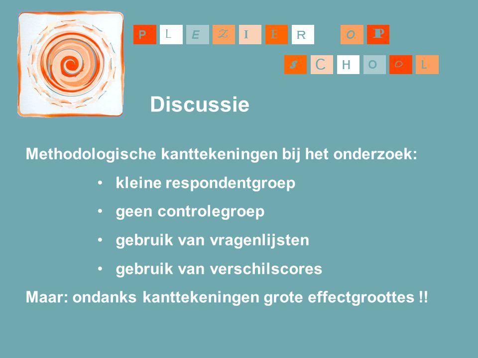 Discussie Methodologische kanttekeningen bij het onderzoek:
