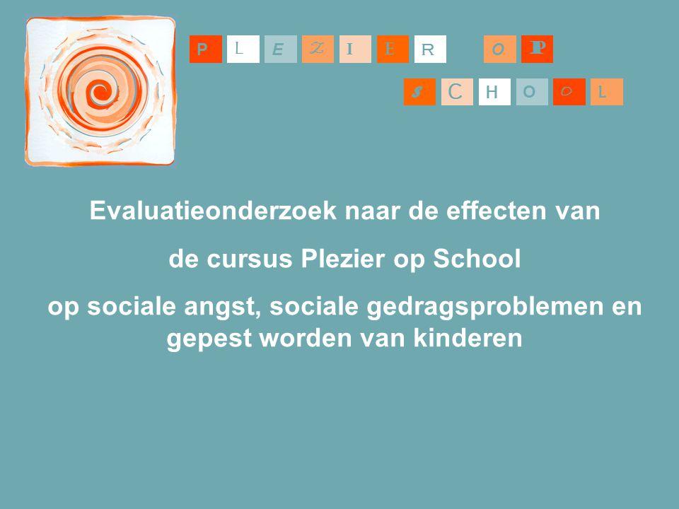 Evaluatieonderzoek naar de effecten van de cursus Plezier op School