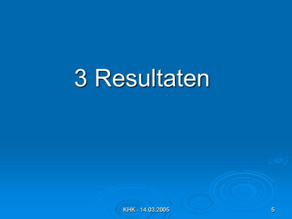 3 Resultaten KHK - 14.03.2005