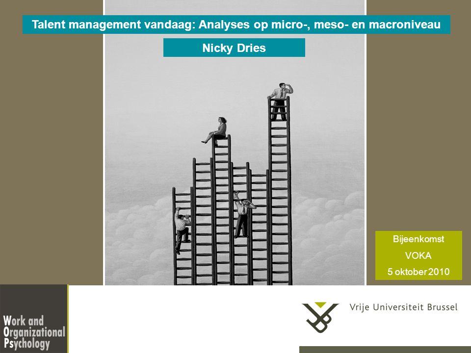 Talent management vandaag: Analyses op micro-, meso- en macroniveau