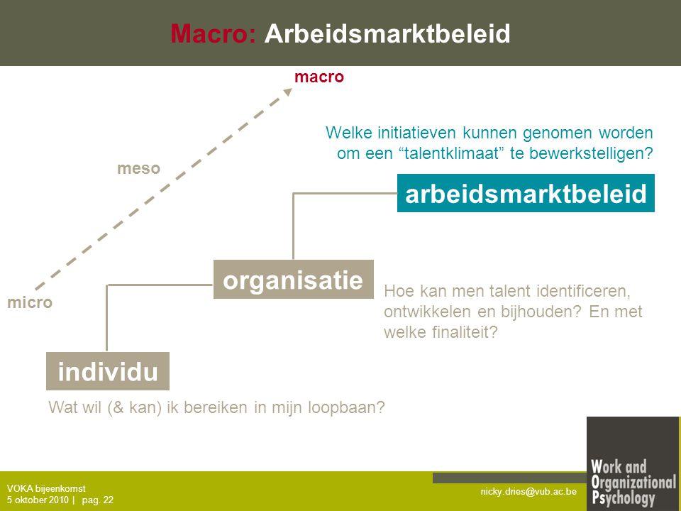 Macro: Arbeidsmarktbeleid