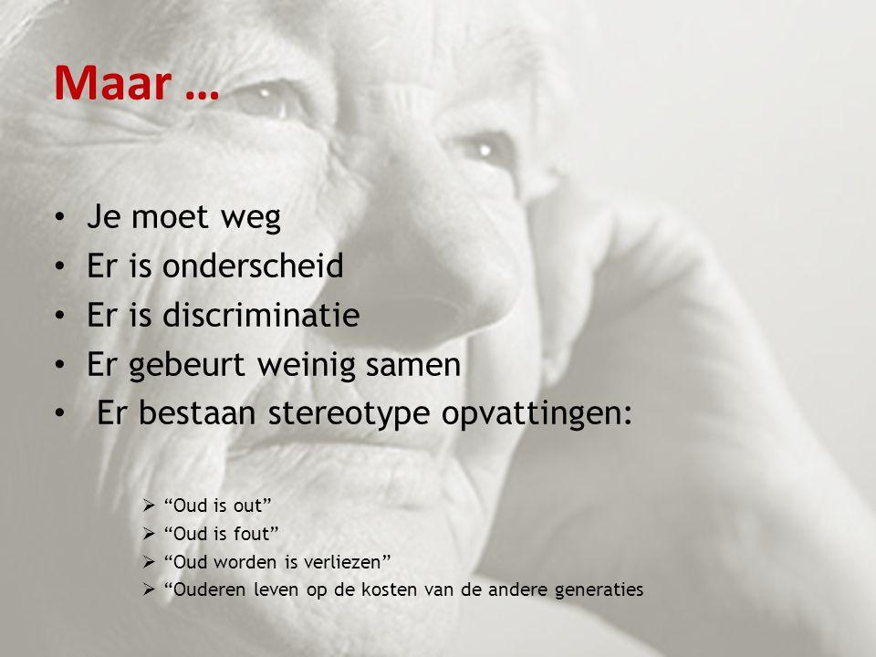Maar … Je moet weg Er is onderscheid Er is discriminatie