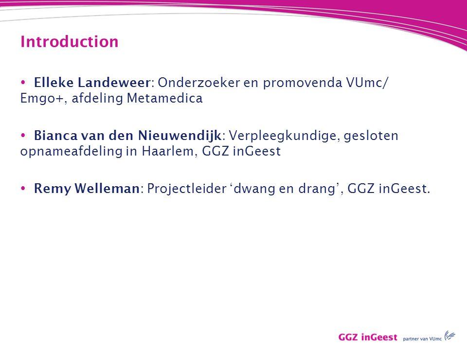 Introduction Elleke Landeweer: Onderzoeker en promovenda VUmc/ Emgo+, afdeling Metamedica.