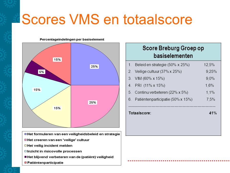 Scores VMS en totaalscore