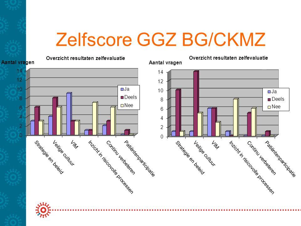 Zelfscore GGZ BG/CKMZ