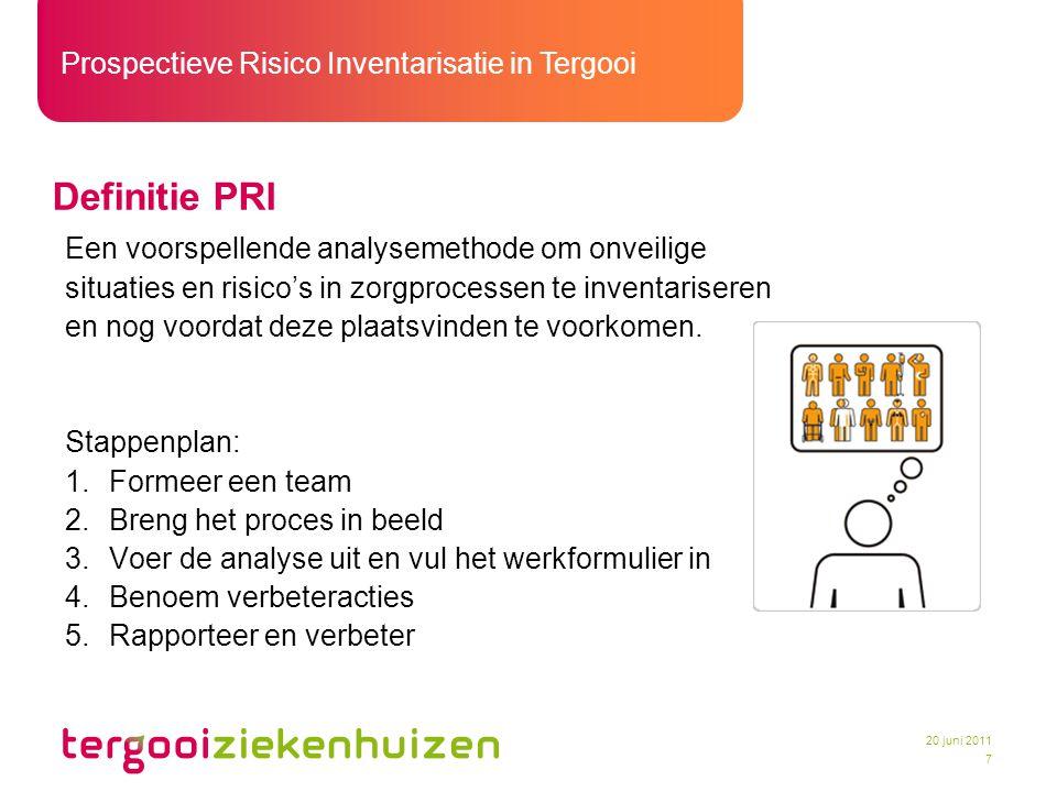 Definitie PRI Een voorspellende analysemethode om onveilige