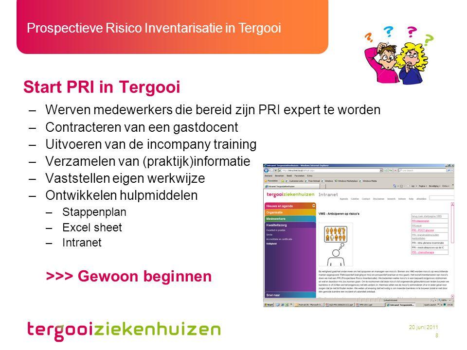 Start PRI in Tergooi >>> Gewoon beginnen