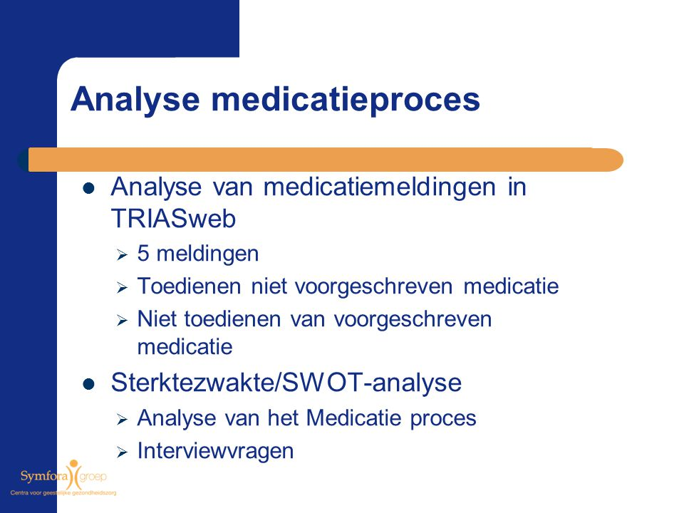 Analyse medicatieproces