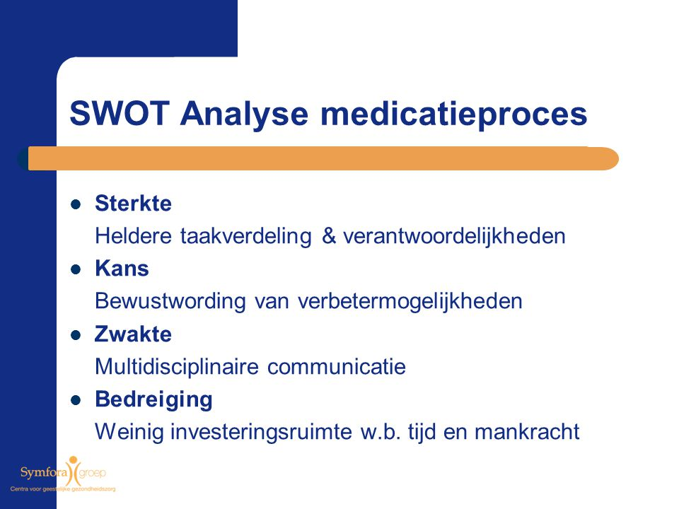 SWOT Analyse medicatieproces