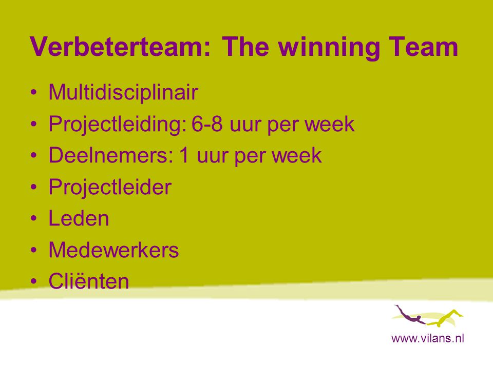 Verbeterteam: The winning Team