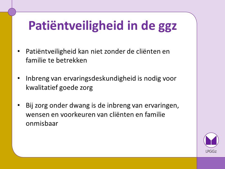 Patiëntveiligheid in de ggz