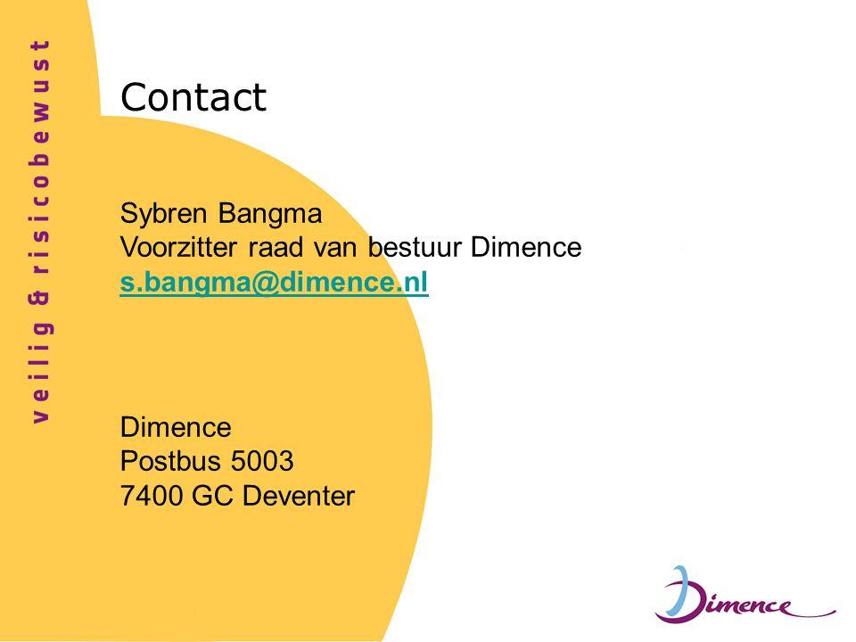 Contact Sybren Bangma Voorzitter raad van bestuur Dimence