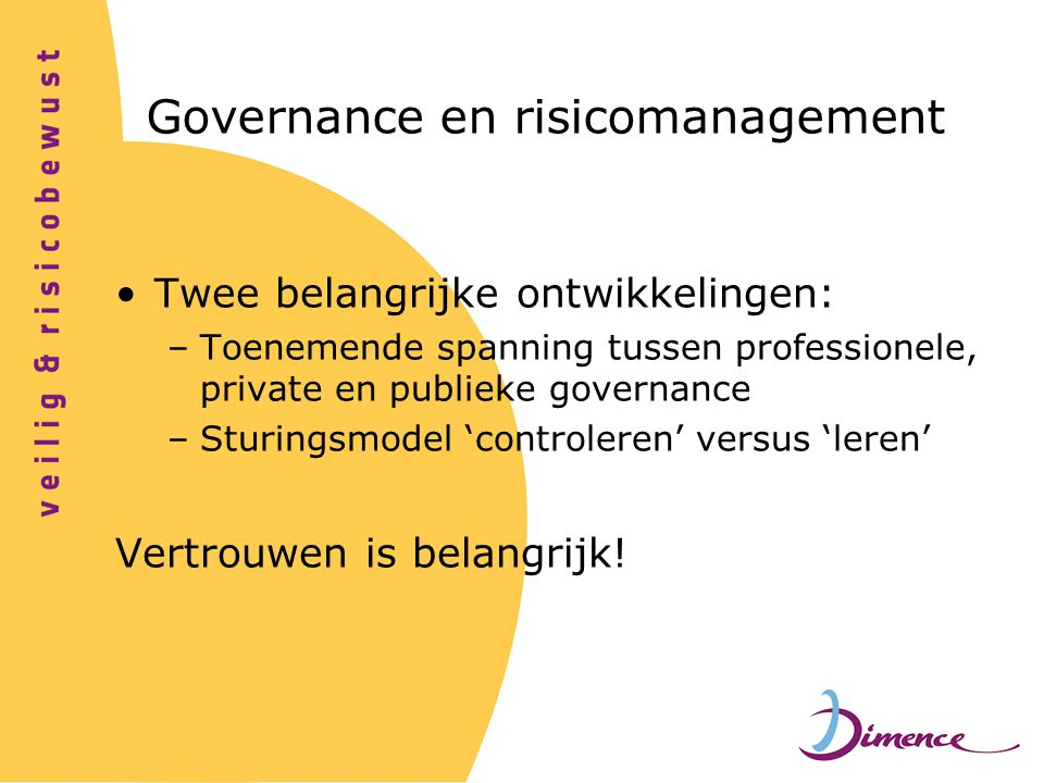Governance en risicomanagement