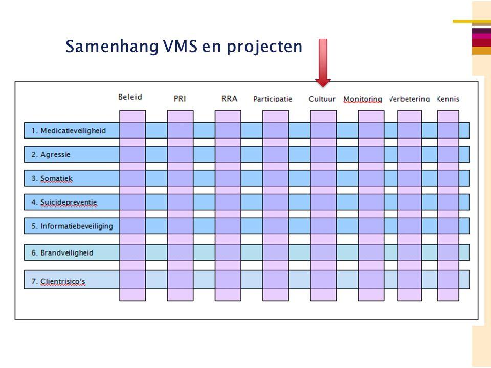 Samenhang VMS en projecten