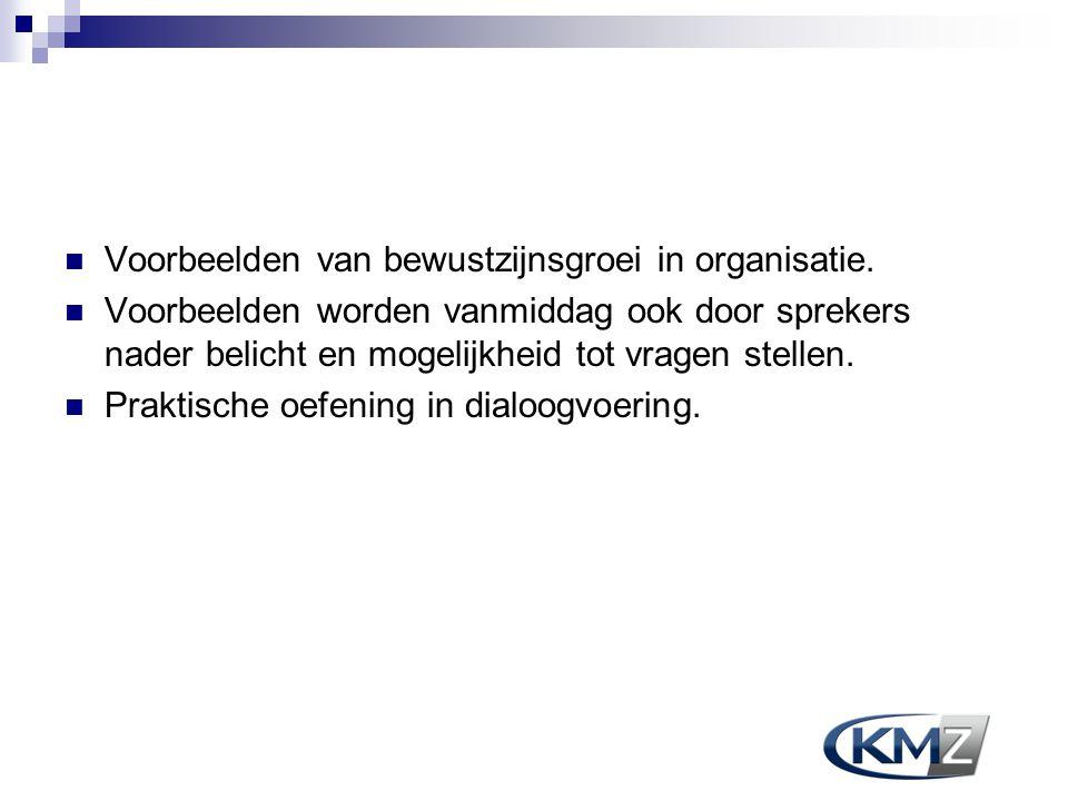 Voorbeelden van bewustzijnsgroei in organisatie.