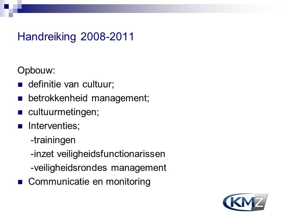 Handreiking 2008-2011 Opbouw: definitie van cultuur;