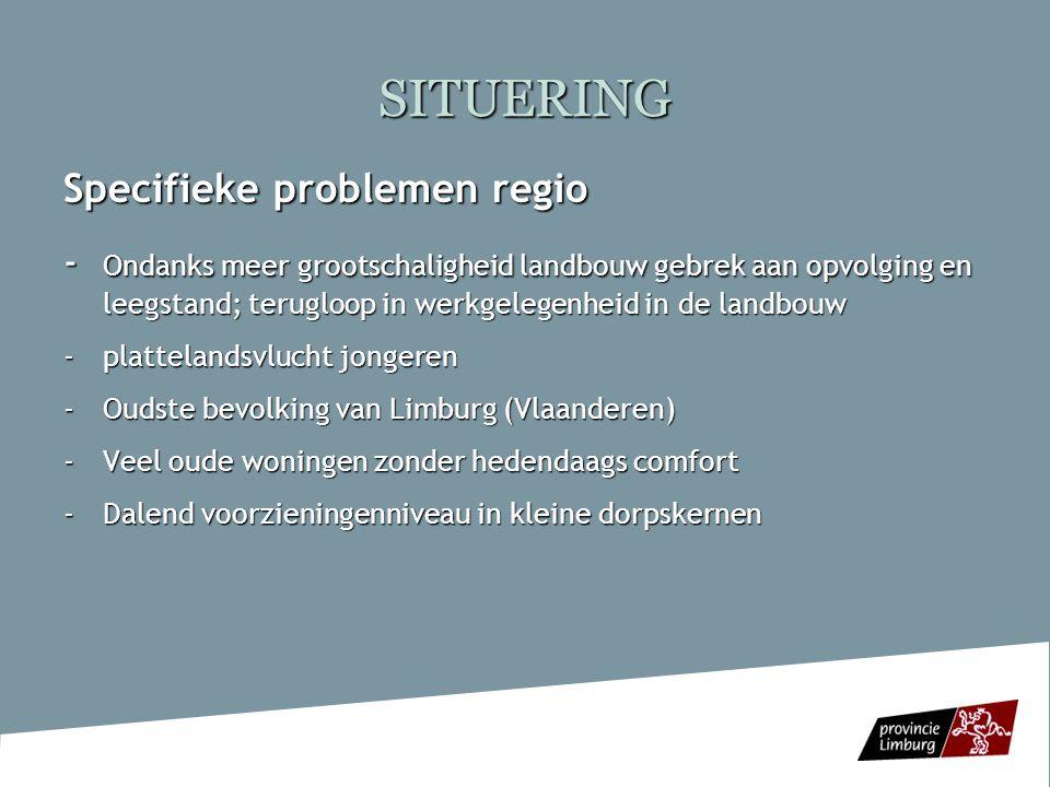SITUERING Specifieke problemen regio